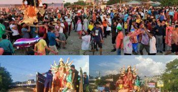 শতাধিক প্রতীমা বিসর্জন কক্সবাজার সমুদ্র সৈকতে | ChannelCox.com